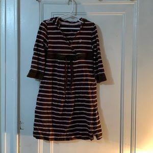 Girl's striped hooded dress